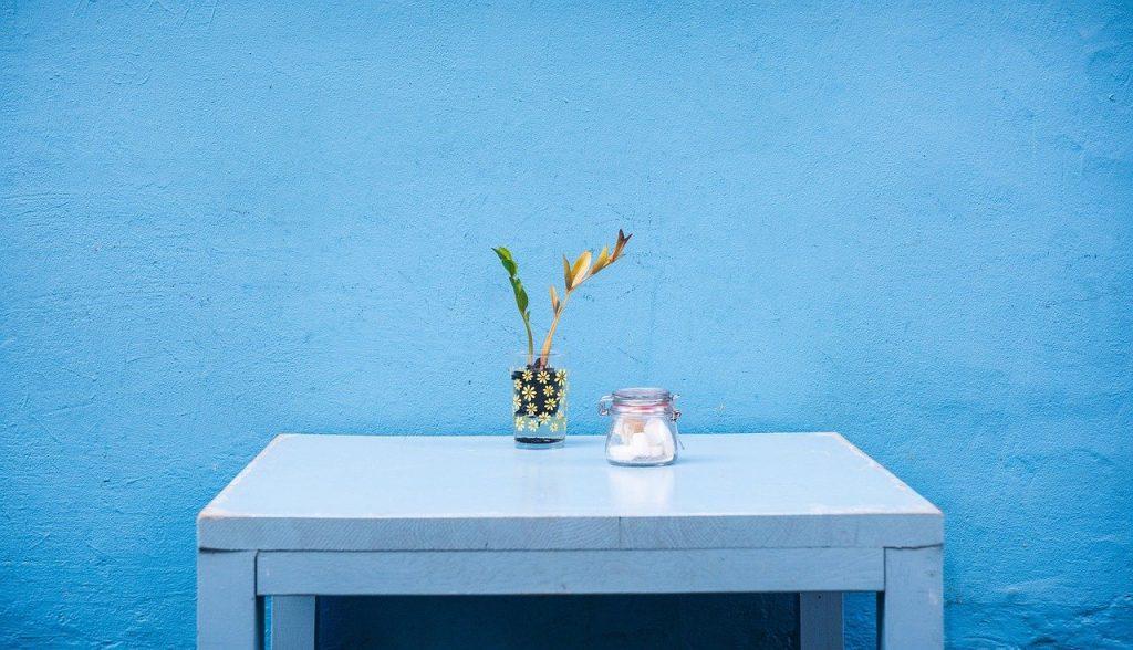 table rénovée